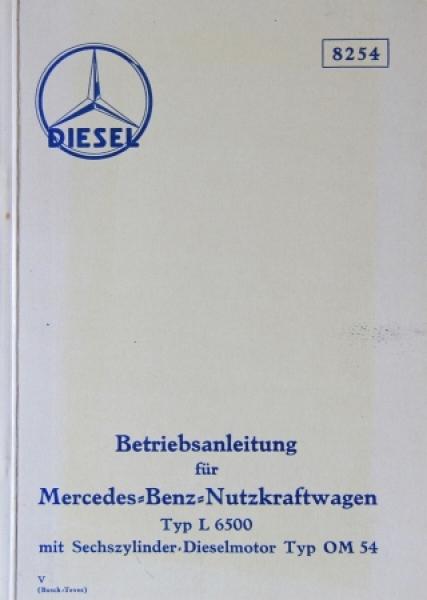 Mercedes Benz L 6500 Typ OM 54 Betriebsanleitung 1935