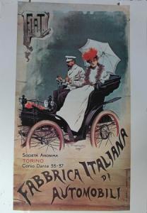 "Fiat Werbe-Blechschild ""Fabrica Italiana di Automobili"" 1899"
