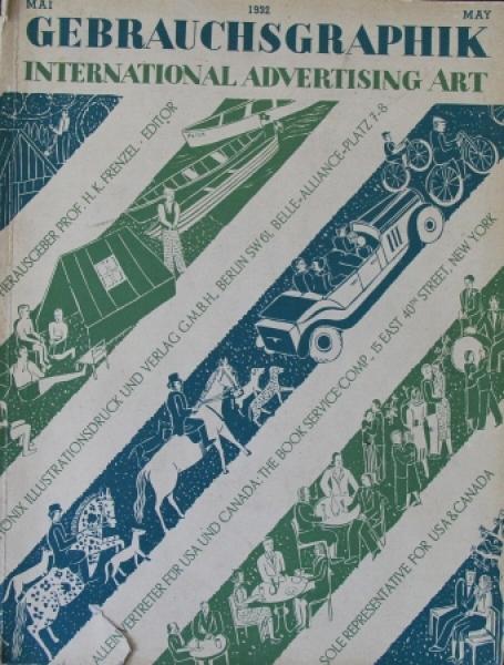 """Gebrauchsgraphik - International Advertising Art"" Reklame-Magazin 1932"