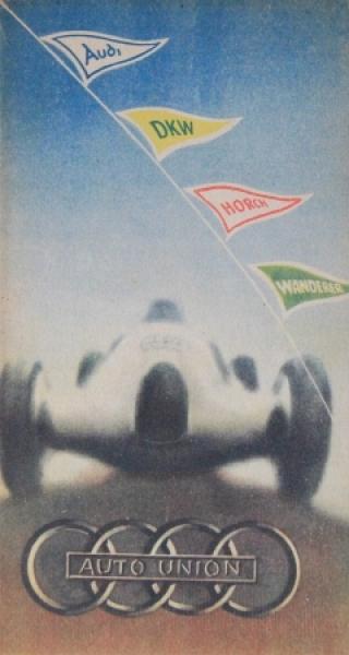 Auto-Union Modellprogramm 1935 Automobilprospekt