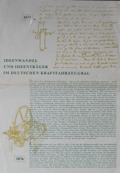 "im deutschen Kraftfahrzeugbau"" Automobil-Imagebrochure 1960"
