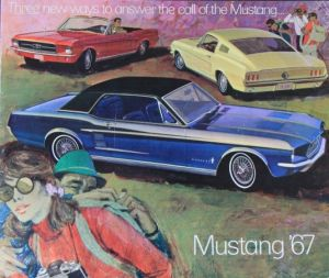 Ford Mustang Modellprogramm 1967 Automobilprospekt