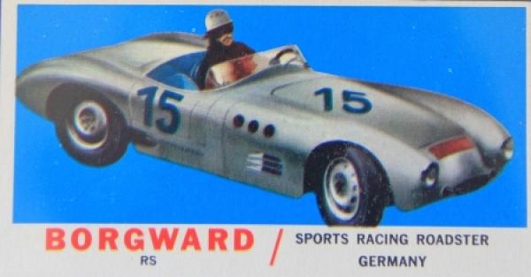 Borgward RS Rennwagen 1954 Sammelkarte