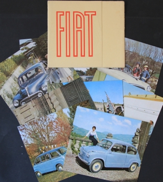 Fiat Modellprogramm Mappe 1956 Automobilprospekt