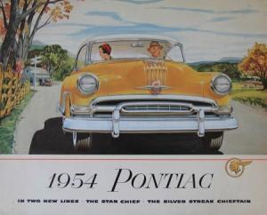 Pontiac Star Chief Modellprogramm 1954 Automobilprospekt