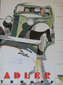 Adler Trumpf Modellprogramm Reuters Automobilprospekt 1932