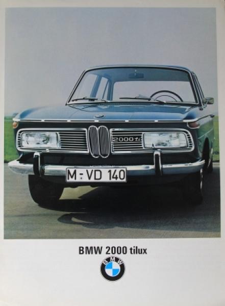 BMW 2000 tilux Automobilprospekt 1967