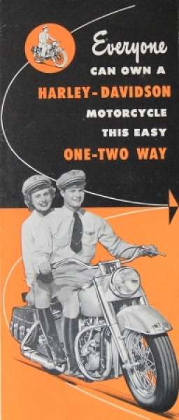 "Harley-Davidson Modellprogramm ""Everyone can own a Harley"" 1938"