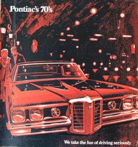 Pontiac Modellprogramm 1970 Automobilprospekt Pontiac Modellprogramm 1970 Automobilprospekt