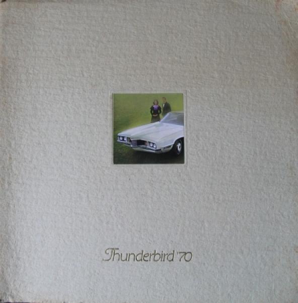 Ford Thunderbird Modellprogramm 1970 Automobilprospekt