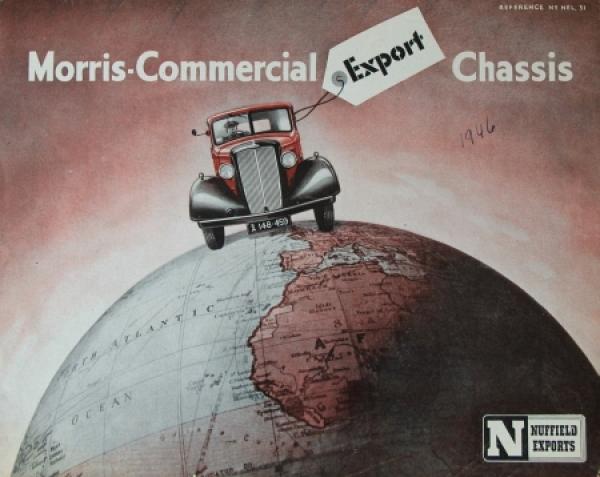 Austin Morris Commercial Export Chassis 1946 Lastwagenprospekt