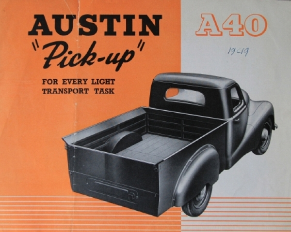 Austin A40 Pick-up 1949 Lastwagenprospekt
