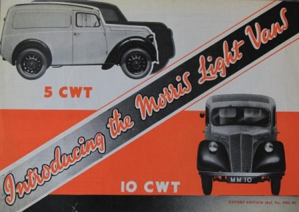 Austin 5 CWT/10 CWT Light Vans 1946 Lastwagenprospekt