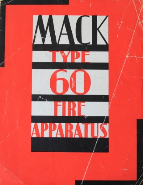 Mack Type 60 Fire Apparatus 600 Gallon Pumper 1935 Lastwagenprospekt