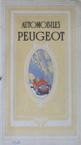 Peugeot Automobiles Modellprogramm 1912 Automobilprospekt