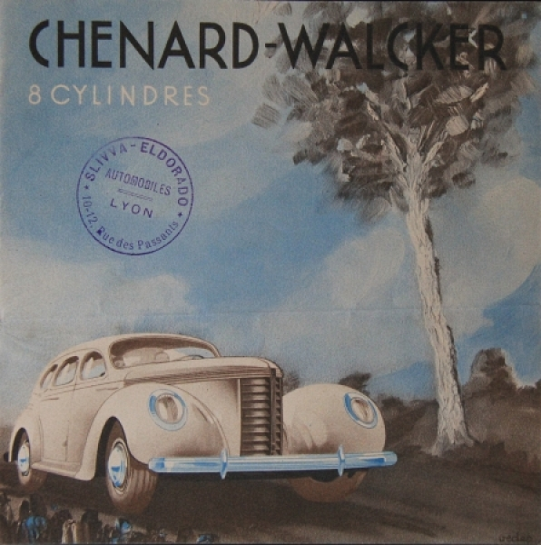 Chenard & Walker 8 Cylindres Modellprogramm 1938 Automobilprospekt