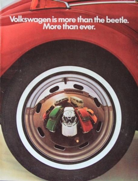 """Volkswagen Modellprogramm 1973 """"More than a beetle"""" Automobilprospekt"""