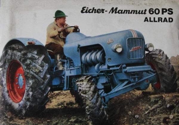 Eicher Mammut 60 PS Allrad 1955 Traktorprospekt
