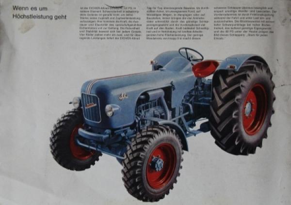 Eicher Mammut 60 PS Allrad 1955 Traktorprospekt 1