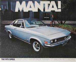 Opel Manta Modellprogramm 1973 Automobilprospekt