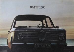 BMW 1600 Modellprogramm 1966 Automobilprospekt