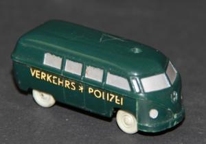 Wiking Volkswagen Bus T1 Verkehrspolizei unverglast Plastikmodell 1955
