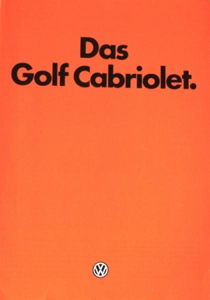 Volkswagen Golf Cabriolet 1982 Automobilprospekt