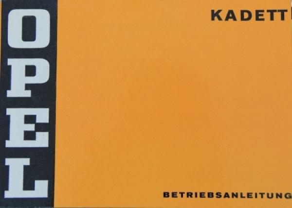 Opel Kadett 1974 Betriebsanleitung