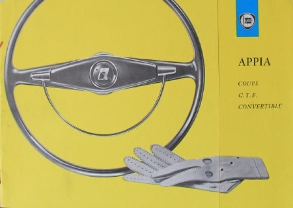 Lancia Appia Coupe/Convertible 1962 Automobilprospekt