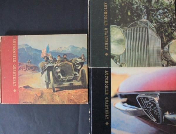 """""""Automobil Quarterly"""" Volume 1 Ausgaben 2/3/4 Autohistorie 1962"""