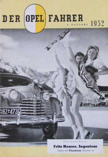 """""""Der Opel-Fahrer"""" Firmenmagazin 1952"""