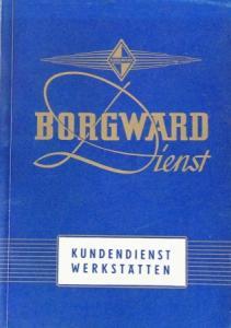 """Borgward """"Kundendienst-Werkstätten"""" Händler-Verzeichnis 1956"""