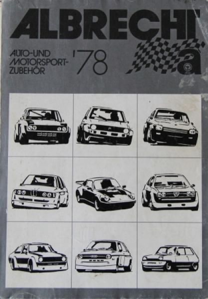 """Albrecht """"Auto-und Motorsport Zubehör '78"""" Motorsportkatalog 1978"""