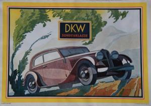 DKW Sonderklasse Modellprogramm 1933 Reuters Automobilprospekt
