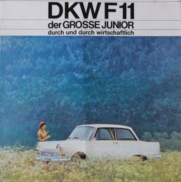 """DKW F11 """"Der große Junior"""" 1963 Automobilprospekt"""