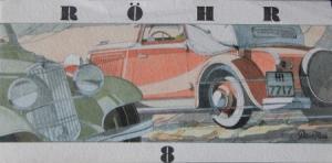 Röhr 8 Modellprogramm 1932 Reuters Automobilprospekt