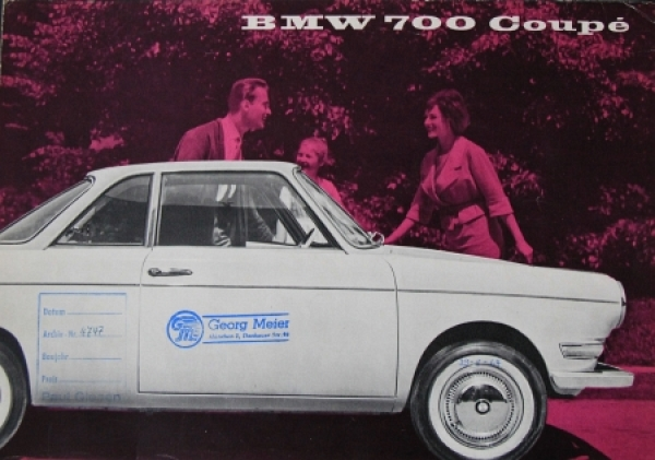 BMW 700 Coupe 1959 Automobilprospekt