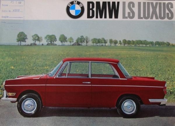 BMW LS Luxus 1965 Automobilprospekt