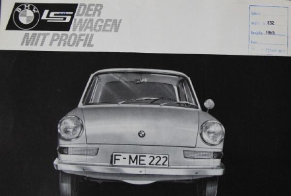 """BMW LS """"Der Wagen mit Profil"""" 1963 Automobilprospekt"""
