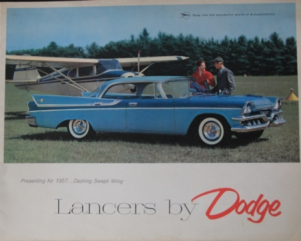 "Dodge Lancers ""Dashing swept-wing"" 1957 Automobilprospekt"