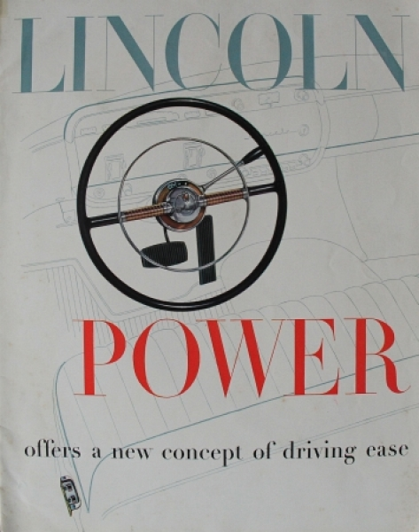 """Lincoln 1952 """"Power offers a new concept of driving ease"""" Automobilprospekt"""