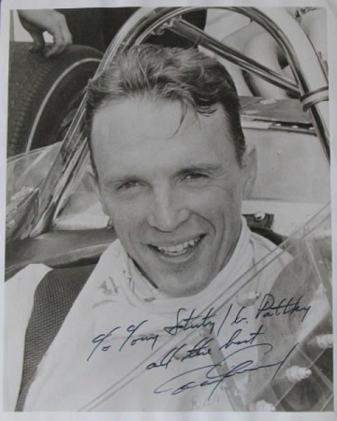 Dan Gurney Formel 1 Rennfahrer Originalautogramm 1964