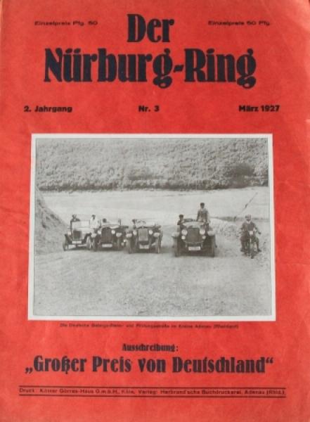 """""""Der Nürburgring"""" Rennsportzeitschrift 1927"""