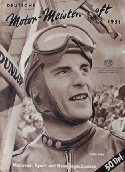 """""""Deutsche Motor-Meisterschaft"""" Morradsportzeitschrift 1951"""