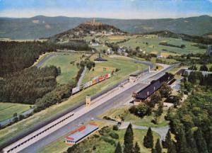 "Nürburgring Rennstrecke ""Start-Ziel"" Postkarte 1950"