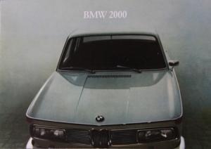 BMW 2000 Modellprogramm 1966 Automobilprospekt