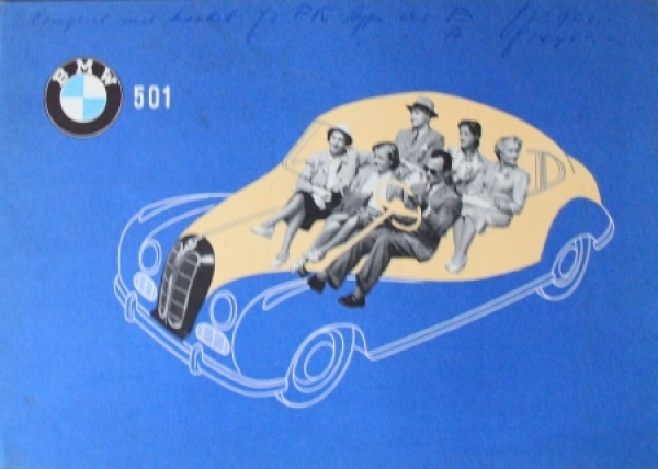 BMW 501 Modellprogramm 1953 Automobilprospekt