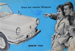 """BMW 700 """"Das ist mein Wagen"""" 1960 Automobilprospekt"""