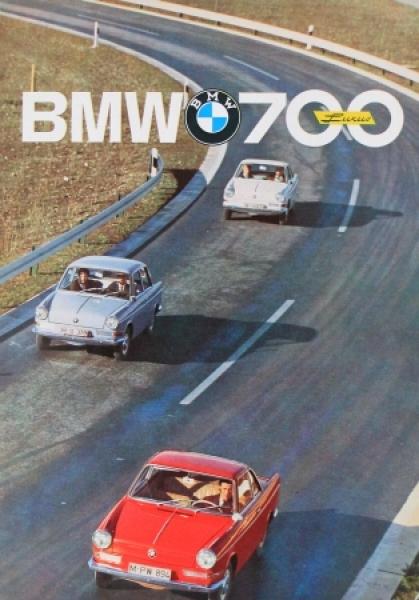 BMW 700 Luxus Modellprogramm 1961 Automobilprospekt