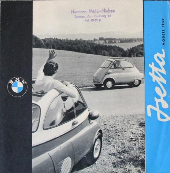 BMW Isetta Modellprogramm 1957 Automobilprospekt